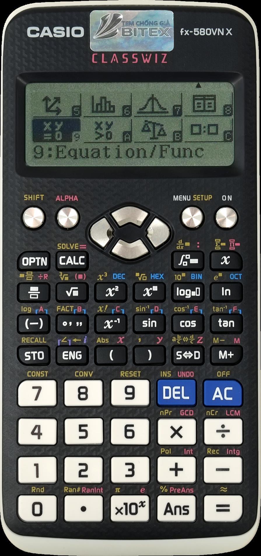 Phiên bản X của dòng máy tính Casio với 521 tính năng nổi bật - Ảnh 2.