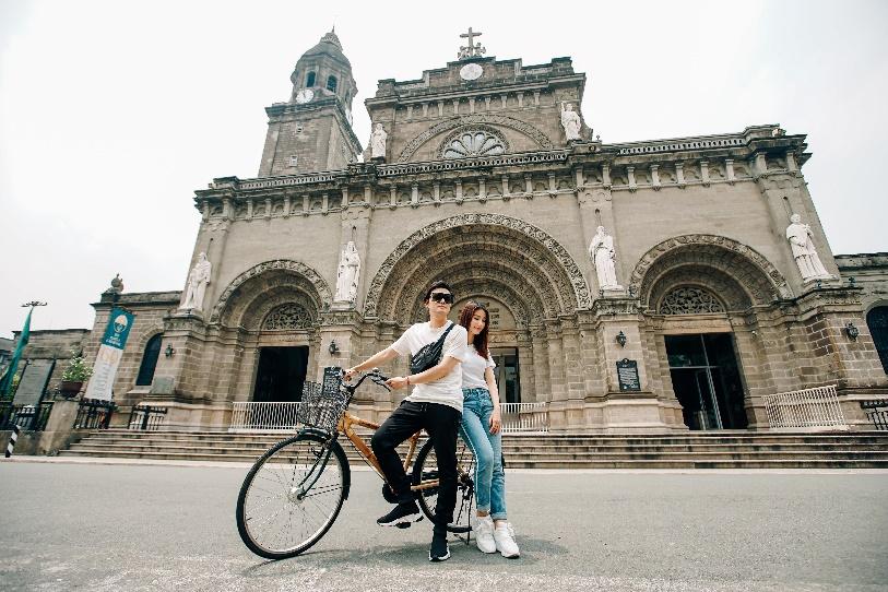 Cùng Quang Vinh, Diễm My 9X đạp xe khám phá thủ đô Manila, Philippines - Ảnh 7.
