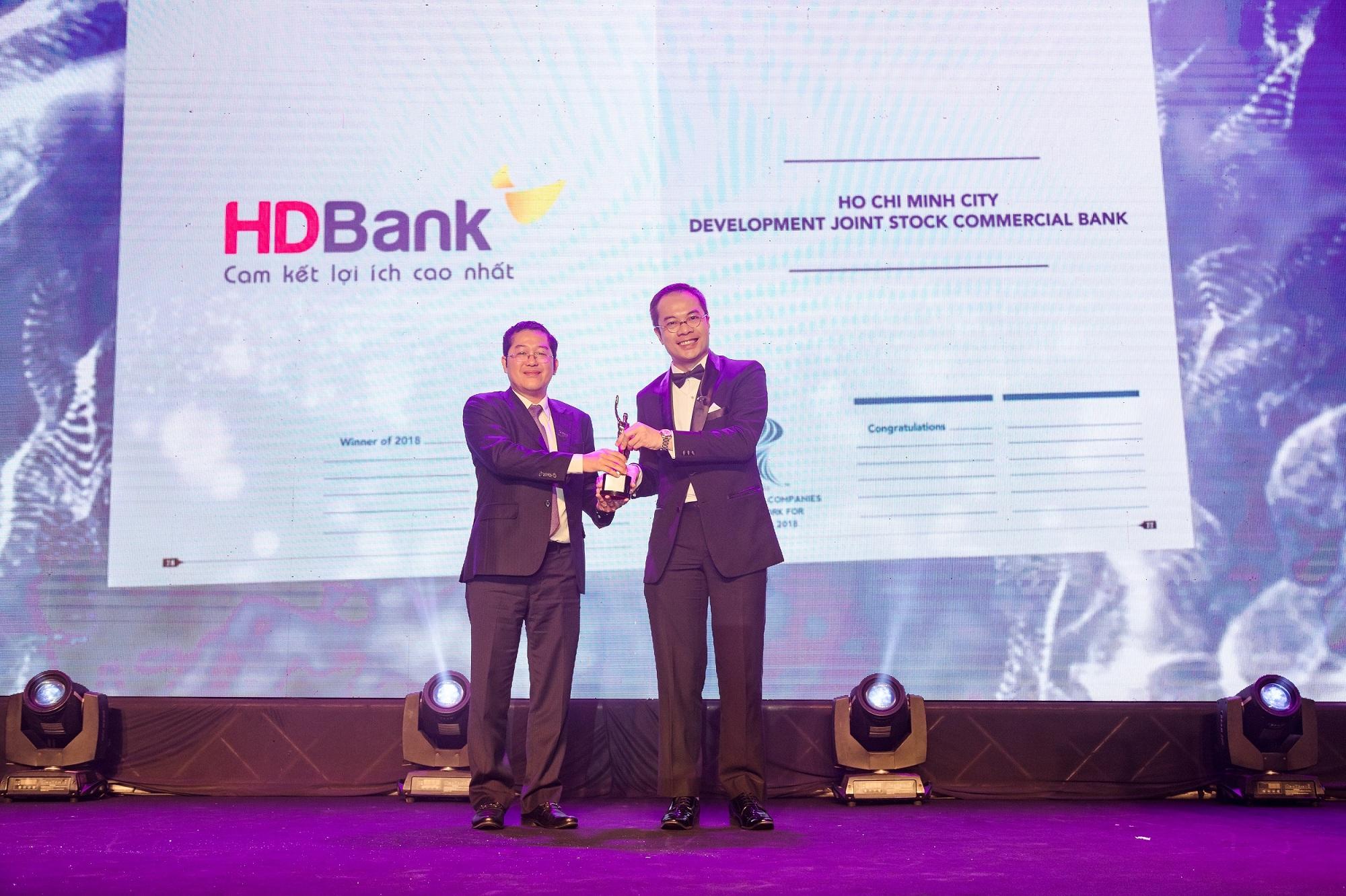 HDBank được bình chọn là nơi làm việc tốt nhất châu Á năm 2018 - Ảnh 1.