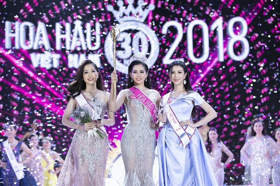 Top 3 Hoa hậu Việt Nam 2018 hội ngộ tại Lễ hội Mặt trời mọc - Ảnh 1.