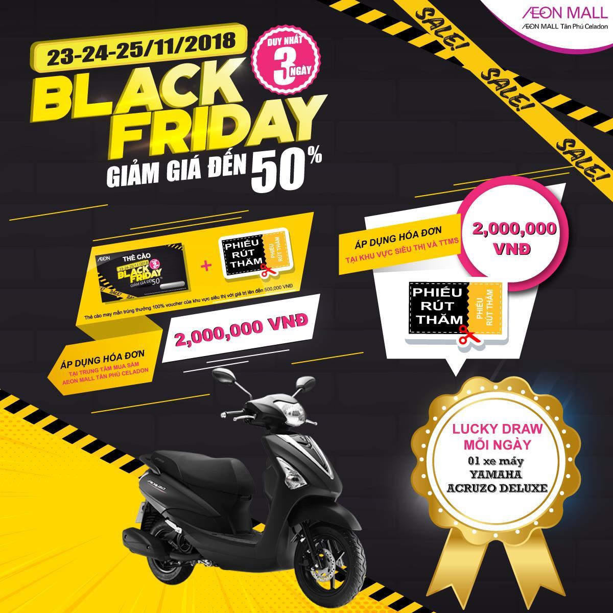 Lên kế hoạch đổ bộ AEON MALL Tân Phú mùa Black Friday 2018 - Ảnh 2.