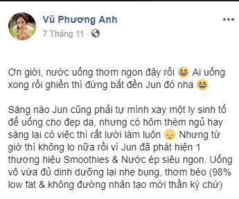Sao Việt đua nhau khoe thức uống mới, ai nấy thần sắc tràn đầy năng lượng, rạng rỡ ngời ngời - Ảnh 2.