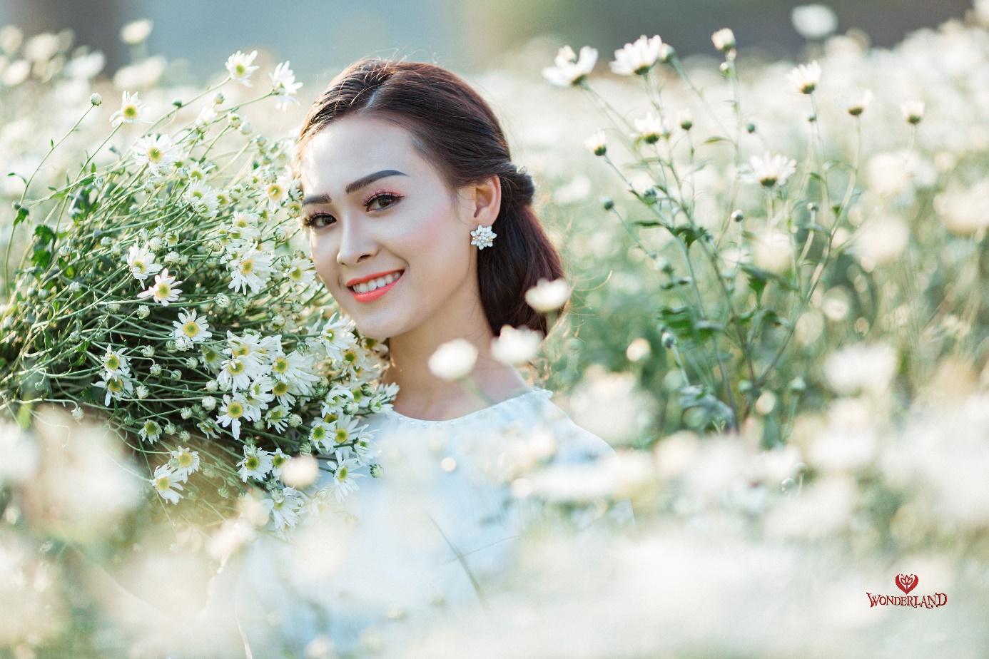 Phim trường Thái Nguyên đang gây sốt với cánh đồng cúc họa mi - Ảnh 1.
