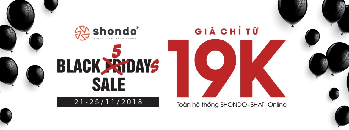 Black 5days đổ bộ SHONDO – Giày dép chỉ từ 19K - Ảnh 1.