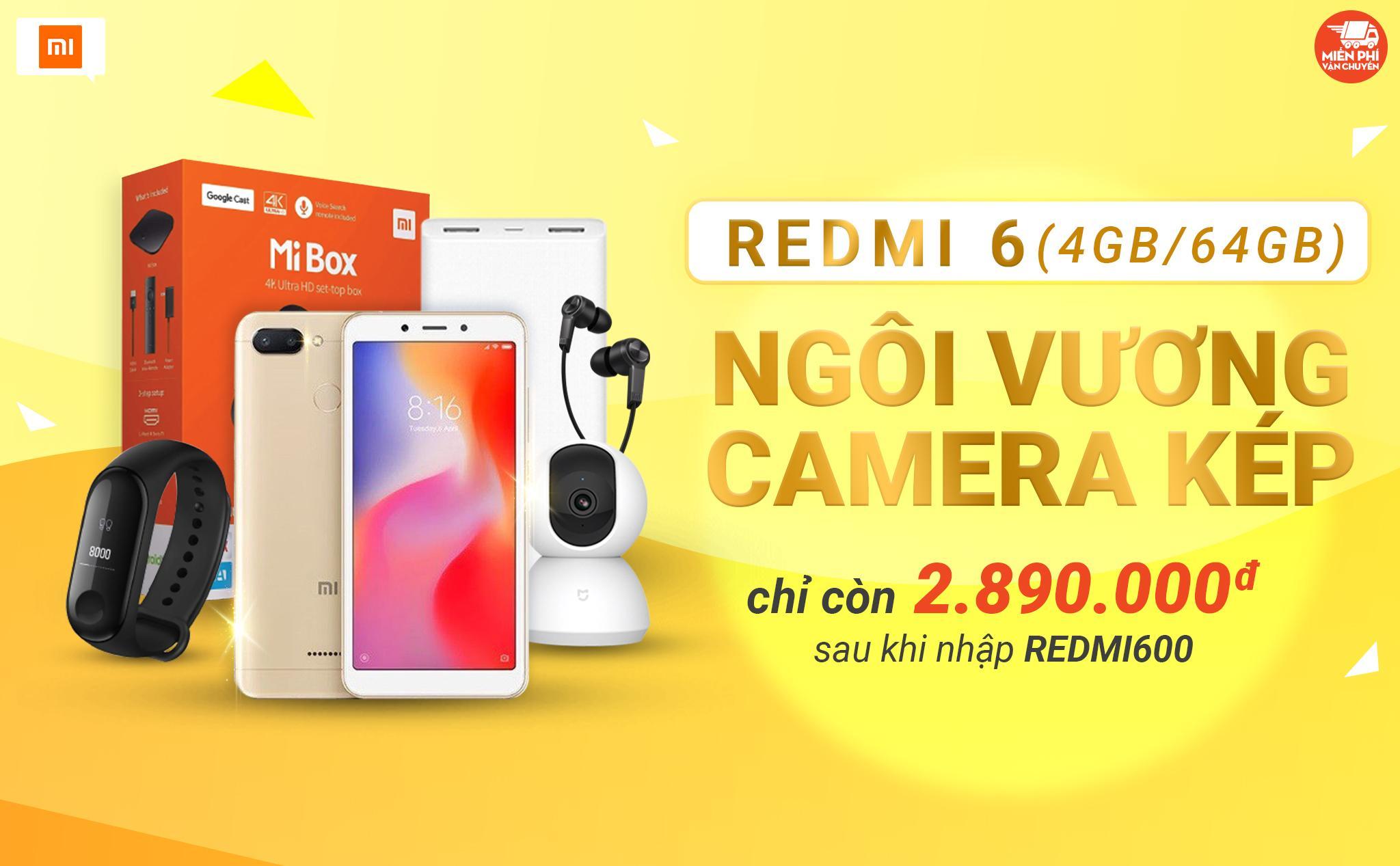 Xiaomi Redmi 6 sale chấn động còn 2 triệu 890 nghìn đồng, chỉ duy nhất ngày 05/12 - Ảnh 1.