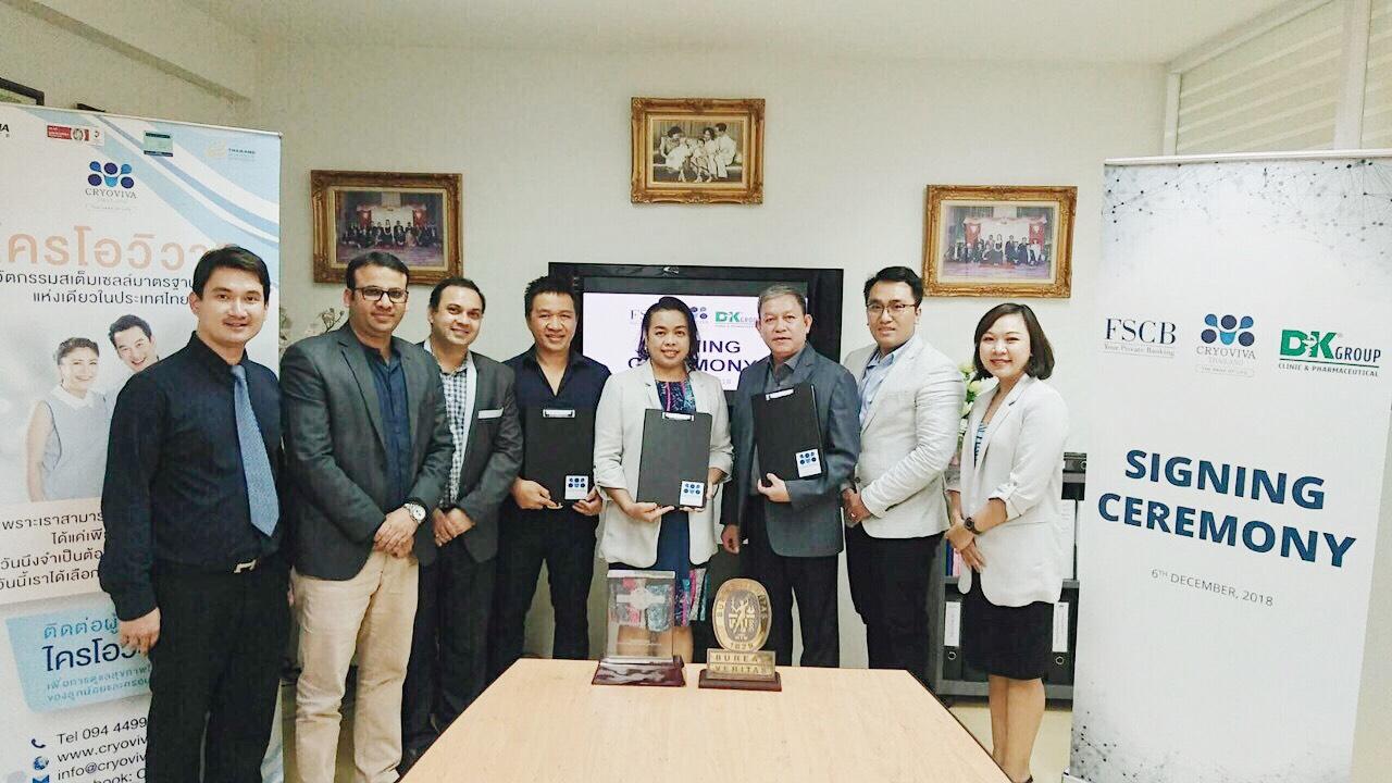 DK Group, FSCB và Cryoviva Thái Lan ký kết chiến lược phân phối sản phẩm lưu trữ tế bào gốc cuống rốn - Ảnh 1.