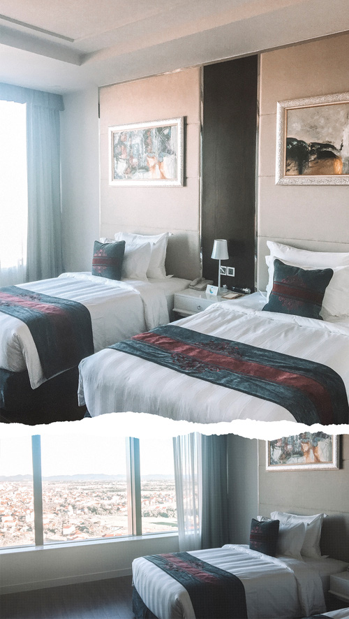 Phòng với thiết kế đẹp, hiện đại và sang trọng. Mỗi phòng đều có một cửa kính lớn để bạn có thể ngồi đọc sách hoặc ngắm hoàng hôn.