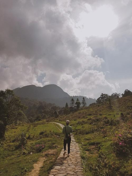 Lối đi bộ dẫn tới thác tình yêu, đẹp như một thảo nguyên trong cổ tích.
