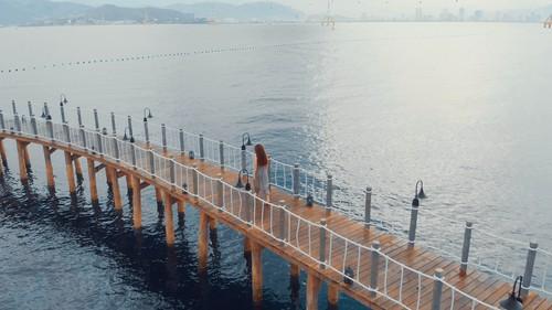 Cầu vượt biển cực cool tại khu Luxury