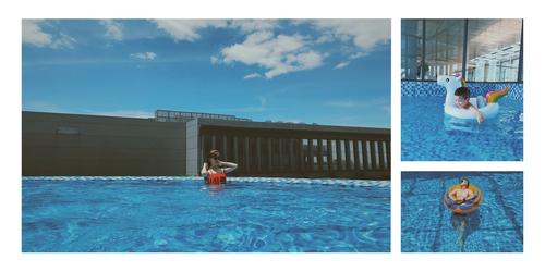 Bể bơi vô cực ngoài trời - Vinpearl Hà Tĩnh.