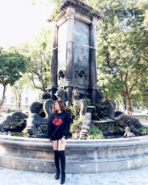 Vườn hoa Diên Hồng có đài phun nước cổ nhất Hà Nội