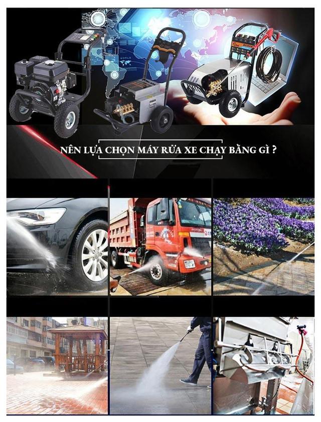 Nên mua máy rửa xe chạy bằng điện, chạy xăng hay chạy dầu? - Ảnh 1.