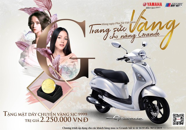 Yamaha chơi lớn: Tặng vàng SJC 999 cho khách hàng mua Grande - Ảnh 1.