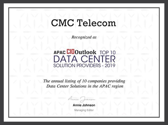CMC Telecom nhận giải Top 10 nhà cung cấp Data Center khu vực APAC - Ảnh 1.