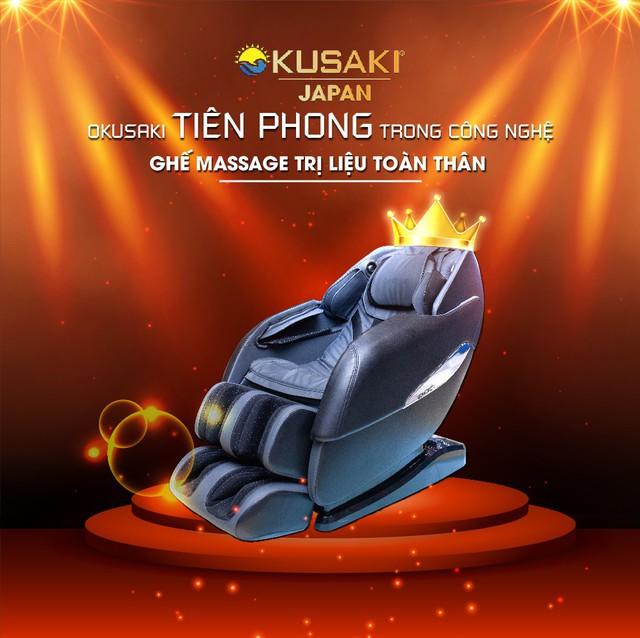 Okusaki tiên phong trong công nghệ ghế massage toàn thân - Ảnh 2.