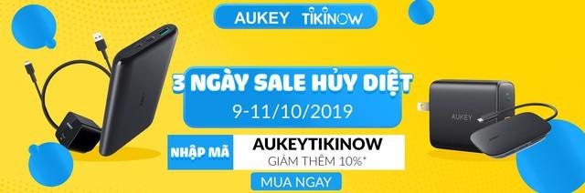Tiki lần đầu tiên sale cùng Aukey, giảm giá tới 50%++ chỉ 3 ngày duy nhất - Ảnh 2.