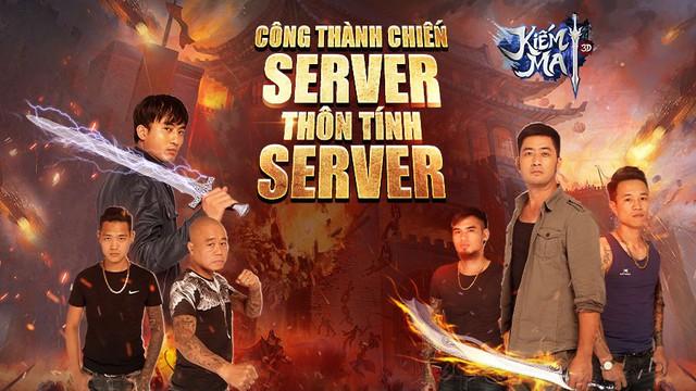Game thủ Kiếm Ma 3D được một phen trầm trồ trước TVC Công Thành Chiến - Server thôn tính server - Ảnh 1.