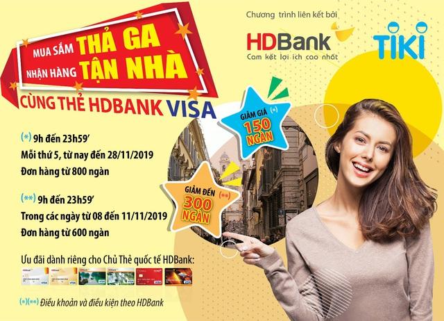 Chủ thẻ HDBank được ưu đãi lên đến 30% khi mua sắm cuối năm - Ảnh 1.