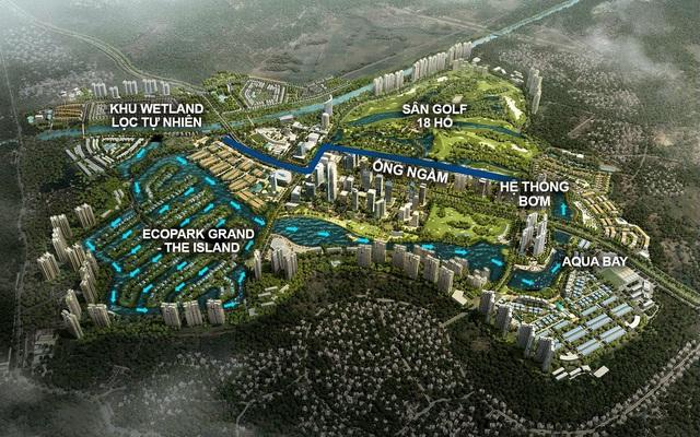 Không gian mặt nước đẳng cấp của biệt thự đảo Ecopark Grand - The Island - Ảnh 1.