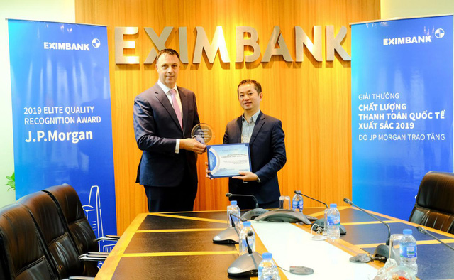 JP Morgan Bank trao giải thưởng thanh toán quốc tế xuất sắc cho Eximbank - Ảnh 1.