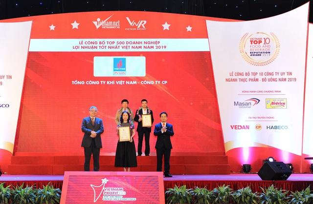 PV GAS được vinh danh trong Top 500 Doanh nghiệp lợi nhuận tốt nhất Việt Nam năm 2019 - Ảnh 1.