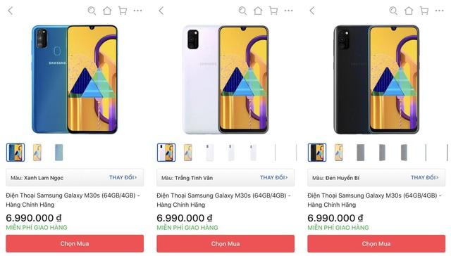 Tiki giảm hẳn 1 triệu cho Samsung M30s chỉ trong sáng nay - Ảnh 1.