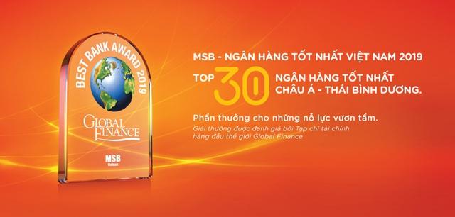 Global Finance: MSB là 1 trong 30 ngân hàng tốt nhất châu Á-Thái Bình Dương - Ảnh 2.