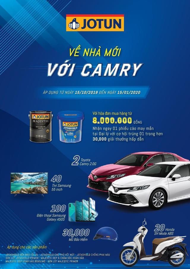jotun - photo 1 15732693132121654022668 - Cơ hội trúng ôtô trong chương trình 'Về nhà mới với Camry' của Jotun