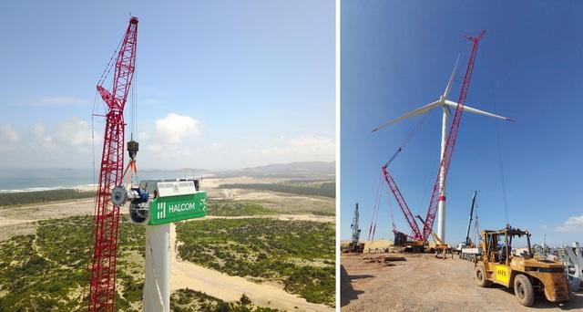 """Nhà máy Phương Mai 3 ghi """"dấu ấn"""" với cánh quạt điện gió đầu tiên trên bầu trời Bình Định - Ảnh 2."""