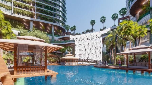 Tổ hợp resort hơn 1 tỷ USD có sông nhân tạo, thác nước và vườn nhiệt đới tiếp cận thềm căn hộ tại quận 7 - Ảnh 1.