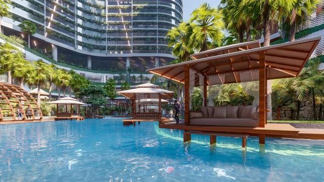 Tổ hợp resort hơn 1 tỷ USD có sông nhân tạo, thác nước và vườn nhiệt đới tiếp cận thềm căn hộ tại quận 7 - Ảnh 2.
