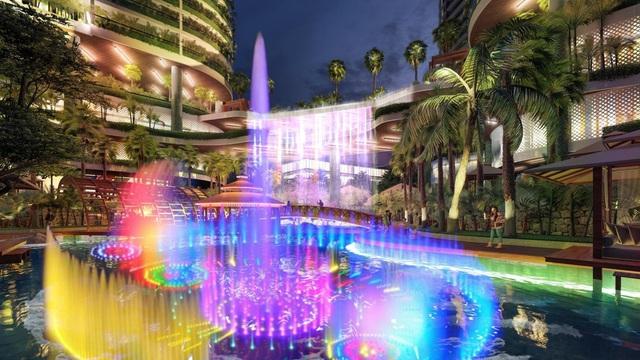 Tổ hợp resort hơn 1 tỷ USD có sông nhân tạo, thác nước và vườn nhiệt đới tiếp cận thềm căn hộ tại quận 7 - Ảnh 9.
