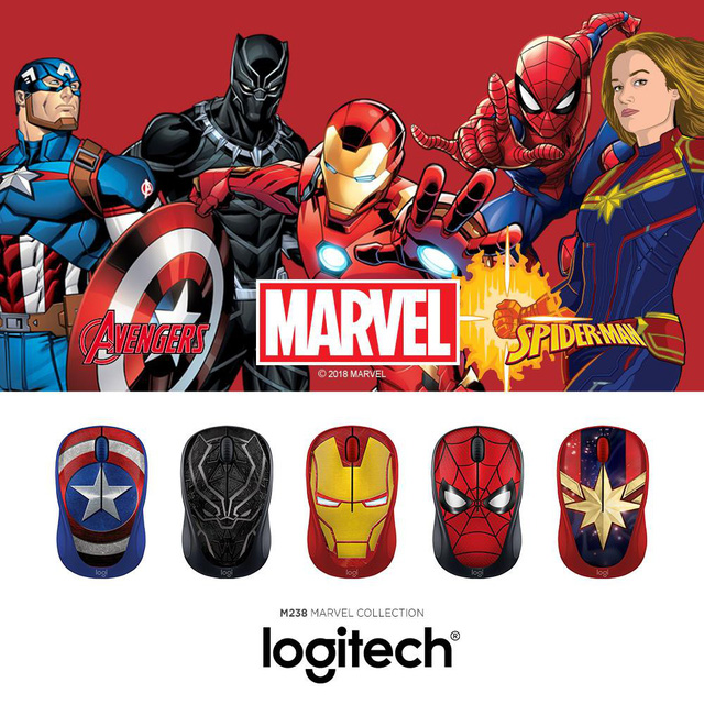Captain Marvel sẽ là thành viên mới nhất trong bộ sưu tập chuột không dây M238 Marvel - Ảnh 1.