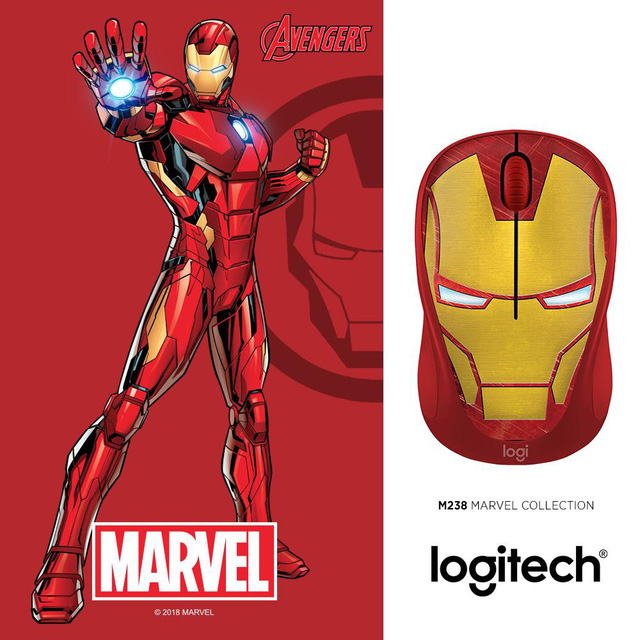 Captain Marvel sẽ là thành viên mới nhất trong bộ sưu tập chuột không dây M238 Marvel - Ảnh 2.