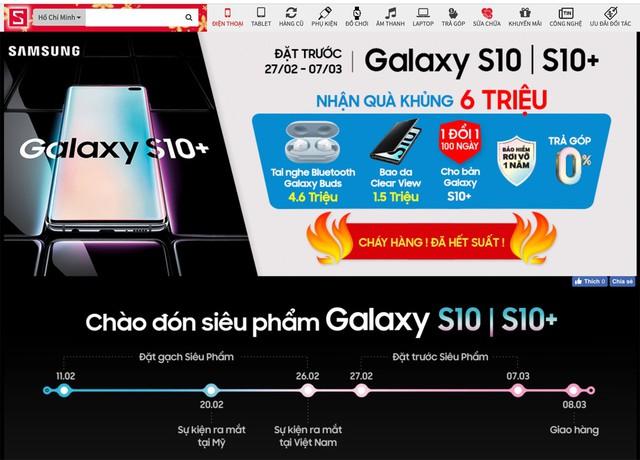 CellphoneS chính thức dừng đặt mua GALAXY S10 S10+ khi vượt hơn 5000 suất - Ảnh 1.