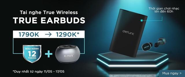 """Lướt Lazada, """"hốt"""" được em tai nghe True Wireless chính hãng Thụy Điển nghe đến 60h với mức giá bất ngờ - Ảnh 1."""