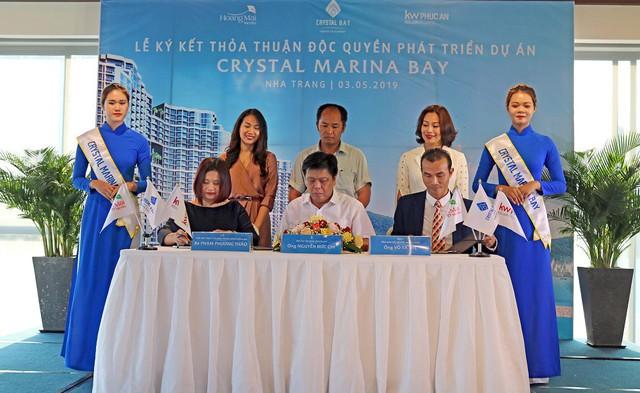 Crystal Bay ký kết hợp tác phát triển dự án Crystal Marina Bay với KW Phúc An và Hoàng Mai Media - Ảnh 1.
