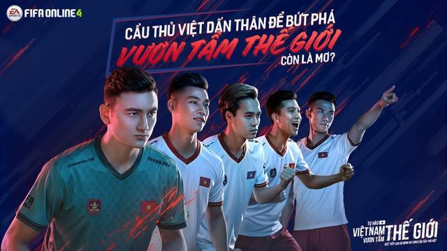"""FIFA Online 4 ra mắt thêm 5 ngôi sao tuyển Việt Nam xuất hiện trong dự án """"Tự hào Việt Nam, vươn tầm thế giới - Ảnh 1."""