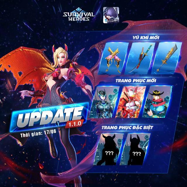"""Chi tiết bản cập nhật Survival Heroes – Những điều """"bí ẩn kinh hoàng"""" sẽ xuất hiện? - Ảnh 1."""