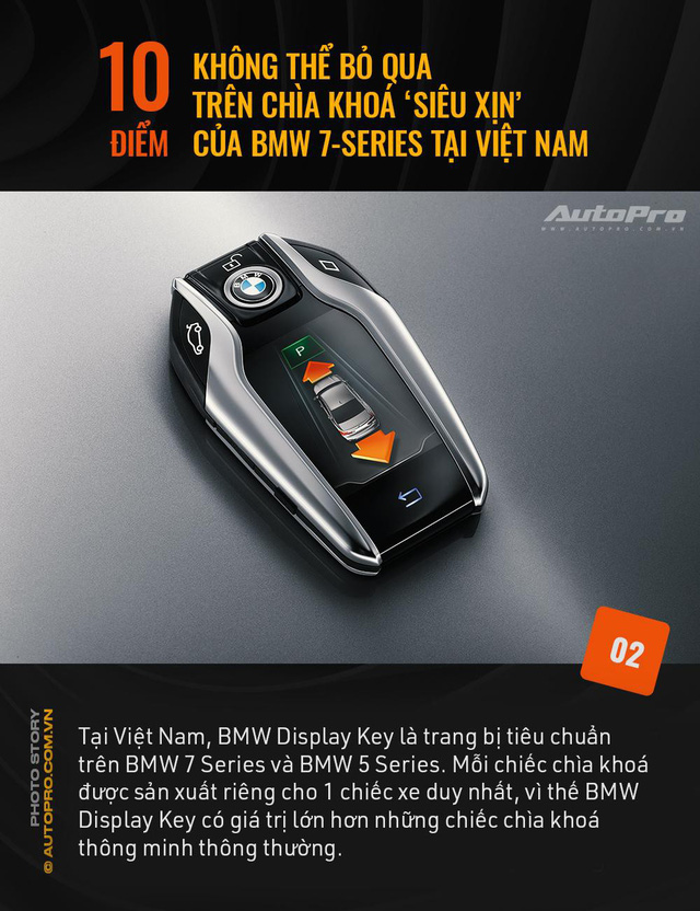 """10 điểm không thể bỏ qua trên chìa khoá """"siêu xịn"""" của BMW 7 Series tại Việt Nam - Ảnh 2."""