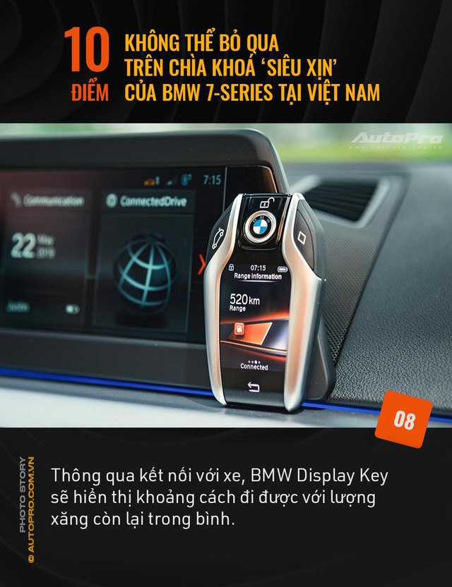 """10 điểm không thể bỏ qua trên chìa khoá """"siêu xịn"""" của BMW 7 Series tại Việt Nam - Ảnh 8."""