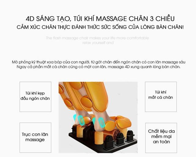 Fujikashi FJ-6000 - Ghế Massage Bán Chạy Hàng Đầu Việt Nam - Ảnh 3.