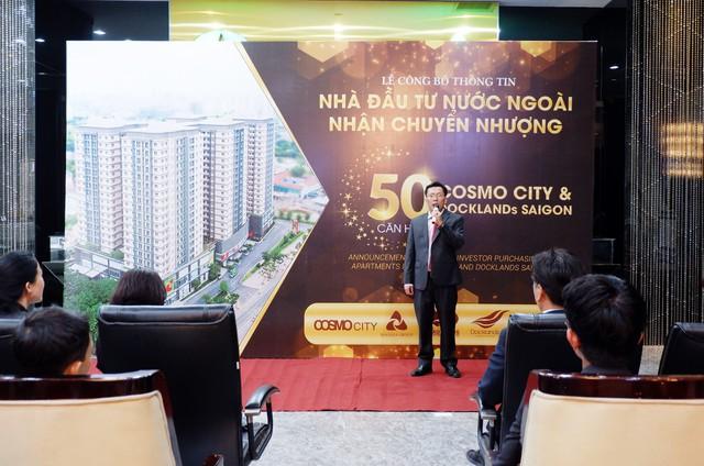 Nhà đầu tư Quốc tế rót gần 250 tỷ đồng mua căn hộ Cosmo City và Docklands Saigon - Ảnh 1.