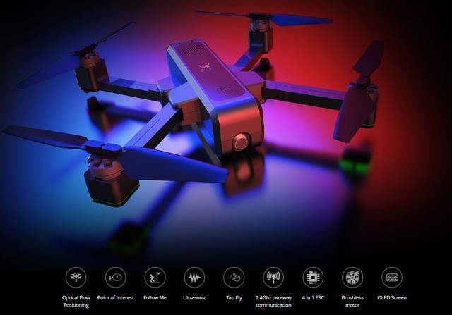 Flycam MJX Bugs 4w hot 2019 - the big change of MJX specializing in mid-range cheap drone - Photo 5.