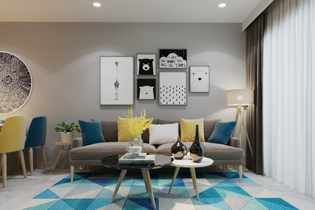 Căn hộ 3 phòng ngủ thiết kế đẹp mắt của doanh nhân Sài Gòn - Ảnh 1.