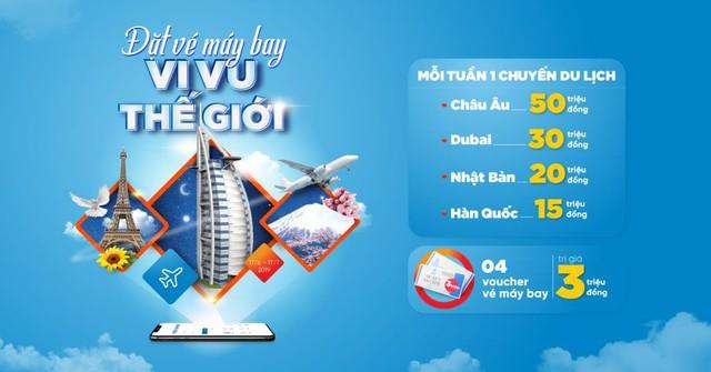 Dịch vụ đặt vé máy bay trên ứng dụng ngân hàng mang lại nhiều ưu đãi cho khách hàng - Ảnh 1.