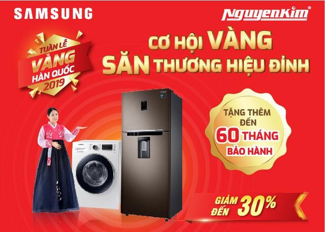 Bùng nổ ưu đãi máy giặt, tủ lạnh duy nhất trong Tuần Lễ Vàng Hàn Quốc tại Nguyễn Kim - Ảnh 1.