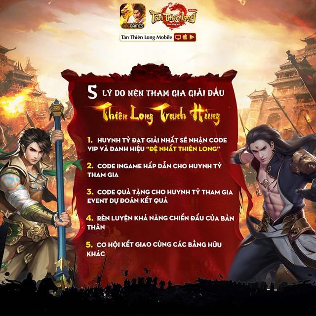 Thiên Long Tranh Hùng, giải đấu hấp dẫn khuấy động cộng đồng Tân Thiên Long Mobile - Ảnh 2.