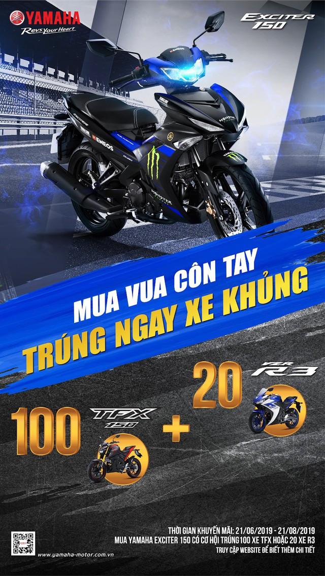 """Cực """"nóng"""" hè này: Yamaha tung ưu đãi lớn cho khách hàng mua Exciter, trúng xe PKL - Ảnh 4."""