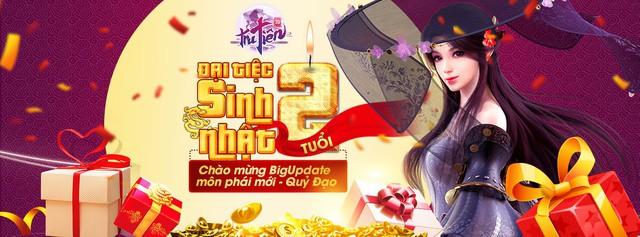 """Đại tiệc sinh nhật Tru Tiên 3D Mobile 2 tuổi, game thủ """"mỏi tay"""" nhận quà siêu trị giá 222 triệu - Ảnh 1."""
